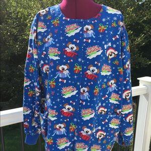 Christmas scrub jacket for ladies